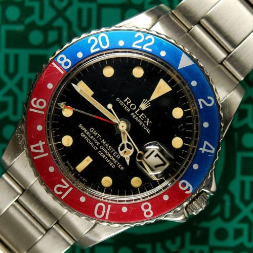 Vintage Rolex GMT-Master pepsi, reference 1675